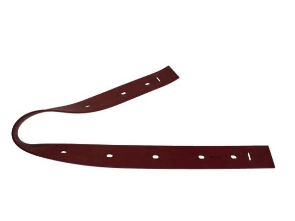 Sauglippe hinten 1020 x 54 x 4 mm, Paragummi rot - Shore 40°