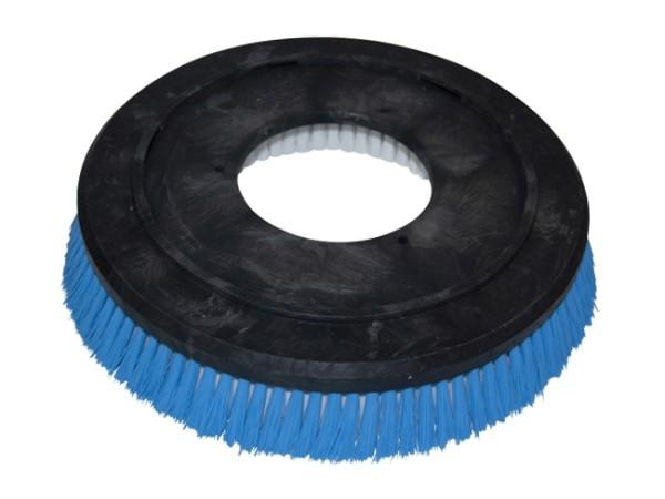 "Shampoonierbürste - Ø 330 / 355 mm - 14 "", Poly 0,3 mm glatt blau"