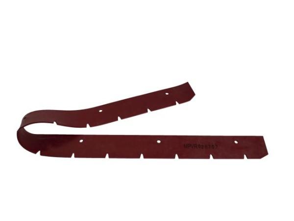 Sauglippe vorne CT 160 BF 75 + BF 85 1020 x 57 x 3 mm, Paragummi rot - Shore 40°