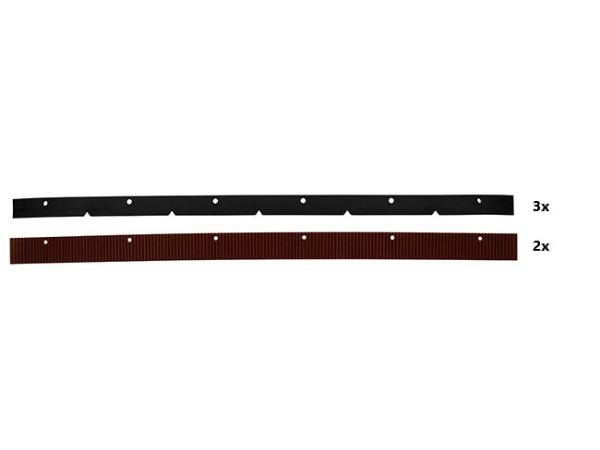 Sauglippensatz, 760 mm(Satz 2xrot+3xschwarz)