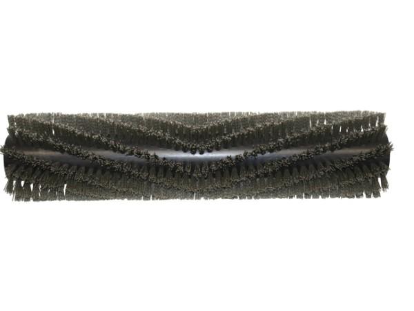 Bürstwalze/Walzenbürste - 640/150 mm/12R V-Besatz - Nylon/Grit/Tynex 1,0 mm