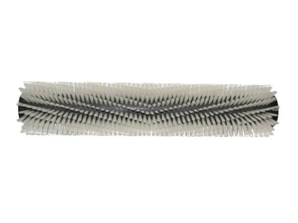Bürstwalze/Walzenbürste - 445 / 96 mm mit Deckel und Feder - Nylon 0,35 mm weiss