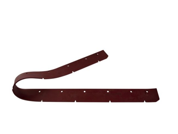Sauglippe vorne 1182 x 65 x 5 mm, Paragummi rot - Shore 40°