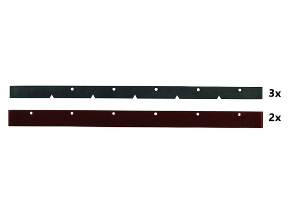 Sauglippensatz, 610 mm(Satz 2xrot+3xschwarz)