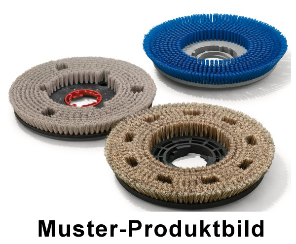 Tellerbürste - Ø 480/520 mm mit Aufnahmeflansch - PP (Polypropylen) 0,30 mm / 5 Komponenten Borsten-