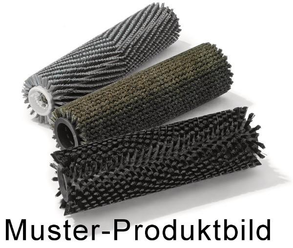 Bürstwalze/Walzenbürste - 492/110/5x4R gerade - Nylon 0,15 schwarz/PP (Polypropylen) 0,40 mm