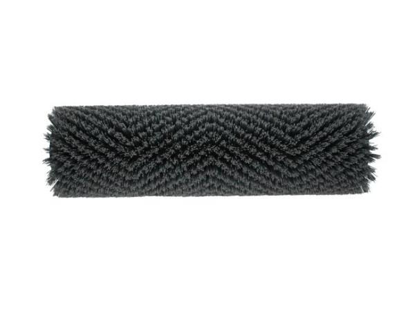 Bürstwalze/Walzenbürste 320 / 96 mm / mit Lager, Nylon-Grit 0,6 mm grau K320