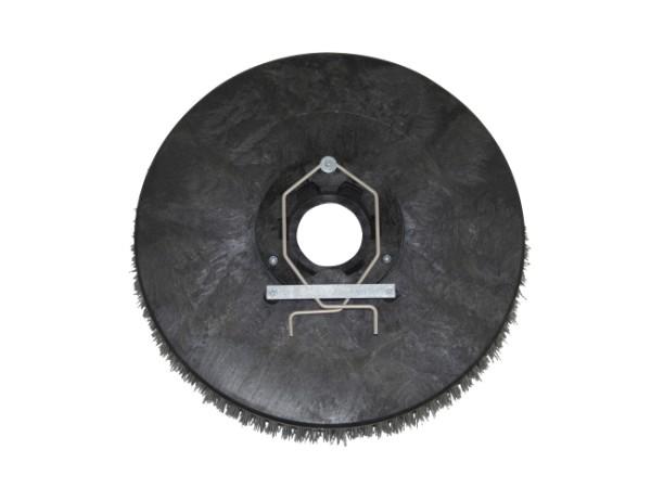 Schleifkorn-Tellerbürste – Ø 405 mm, Nylon-Grit 1,2 mm (K80)