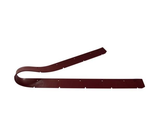 Sauglippe vorne 1435 x 65 x 5 mm, Paragummi rot - Shore 40°