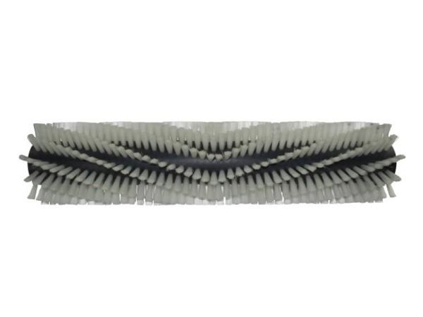 Bürstwalze/Walzenbürste - 640/150 mm/12R V-Besatz - Nylon 0,30 mm weiß