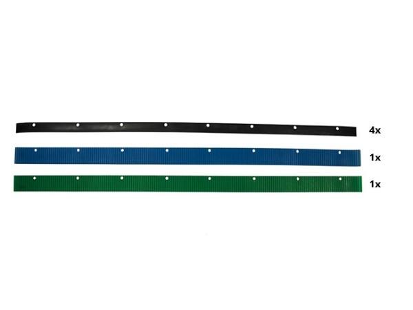 Sauglippensatz, 830 mm(Satz 2xgrün+4xschwarz)